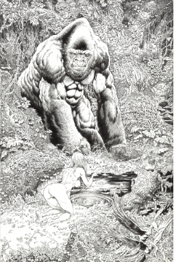 Gorilla and Girl Print
