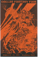 Dallas Fantasy Fair Welcome to Hell Print 1991